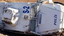 Zırhlı araç devrildi: Yaralı polislerimiz var