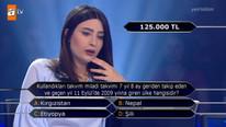 125 bin TL değerindeki soru yarışmacıyı da izleyiciyi de şaşırttı...