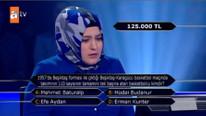 Yarışmacı 125 bin TL'lik soruya doğru cevabı verdi ama...