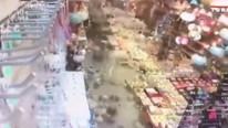 Muğla'daki deprem kamerada ! Korkunç görüntü
