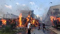 İstanbul'da fabrikada dev yangın !