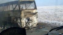 Facia ! Otobüs yolcularla birlikte alev alev yandı: 52 ölü