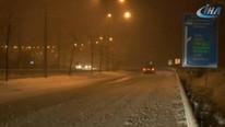 İstanbul'un hemen dibinde... Gece beyaza büründü !