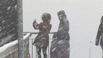 İstanbul ve Ankara'dan kar manzaraları