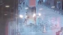 İstanbul'da şok görüntüler ! Bir anda yerden alevler yükseldi