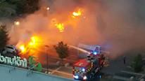 80 araba yakıp kaçtılar