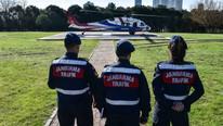 İstanbul'da helikopterle trafik denetimi