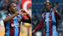 Trabzonspor'un golcü ikilisi Rodallega - Nwakaeme