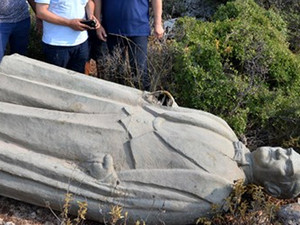 Ormana atılan Atatürk heykeliyle ilgili 3 gözaltı