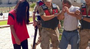 Liseli genç kız ile babası gözaltına alındı