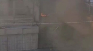 Marmaray Durağı yakınında korkutan yangın