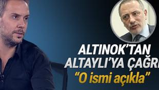 Melih Altınok'tan Fatih Altaylı'ya kritik çağrı