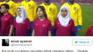 Enver Aysever'in başörtüsü tweet'i olay oldu