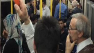 Bursa'da metro arızalanınca yolcular mahsur kaldı !
