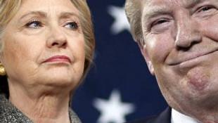 Clinton ile Trump arasındaki puan farkı bire indi