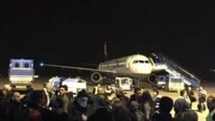 Uçakta yaşanan gerginlik rötara neden oldu