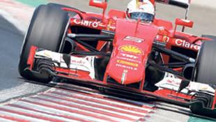 Vettel, Senna'yı yakaladı