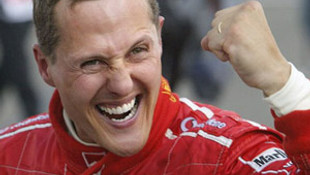 'Schumacher yürümeye başladı'