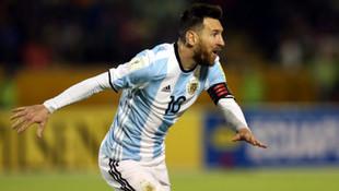 Arjantin'i Messi kurtardı !