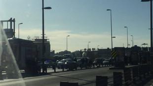 E-5 karayolunda kaza ! Durma noktasına geldi
