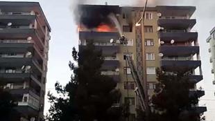 Diyarbakır'da bir binanın 7.. katında patlama !
