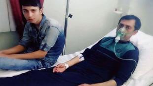 Hastaneye kaldırılan Ankaralı Turgut'tan ilk fotoğraf