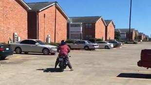 Motosiklet dersi kötü bitti