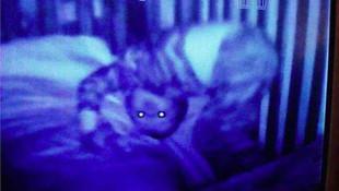 Bebek kamerasına takılan ilginç anlar