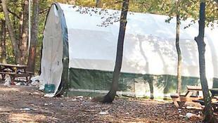 Belgrad Ormanı'ndaki çadır kumarhanenin şoke eden fotoğrafları