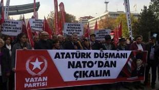 ABD Büyükelçiliği önünde eylem: ''Türkiye NATO'dan çekilmelidir''