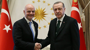 Infantino Erdoğan ile görüştü