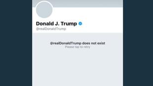 Trump'ın Twitter hesabı silindi !