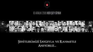 Beşiktaş o şehitleri unutmadı