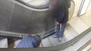 İstanbul'un göbeği Taksim'de şok görüntü
