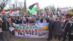 Beyaz Saray yakınlarında Kudüs protestosu