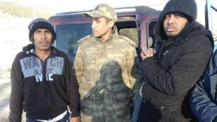 Kaçakları köylüler yakaladı