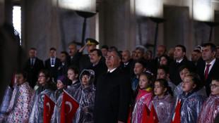 Anıtkabir'deki 23 Nisan töreninden kareler