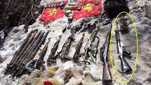 PKK sığınağından Belçika'nın kullandığı piyade tüfeği çıktı