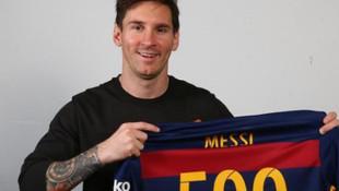 Suzy Cortez'den Messi'ye 500. gol kutlaması