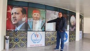 Atatürk fotoğrafını kaldırıp 2'nci Abdülhamid'in fotoğrafını koymuşlar