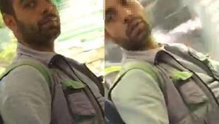 Otobüste kadınları taciz eden adam böyle görüntüledi