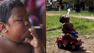 İşte sigara tiryakisi bebeğin son hali
