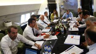 Erdoğan'ın uçağında MHP'den sürpriz isim