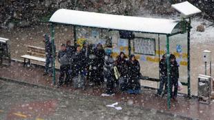 Bolu'ya Nisan ayında kar yağdı
