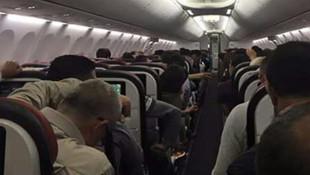 Uyuşturucu içen yolcu uçakta paniğe yol açtı