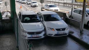 İstanbul'da gişelere sıkışan inatçı sürücülerin görüntüleri ortaya çıktı