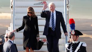 Melanie Trump yine eşinin elini tutmadı