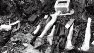 Batı'nın verdiği silahlar mağaralardan cıkıyor