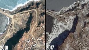 Kuzey Kore'nin yapay adaları