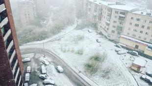 Haziran ayında kar yağdı